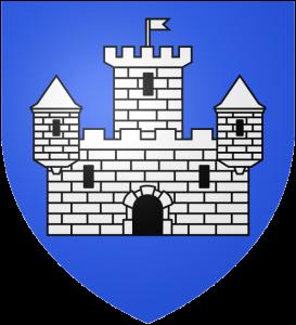 Armoiries de la ville. Château d'argent sur fond d'azur