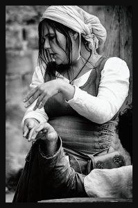 Photo de Gaëlle en noir et blanc